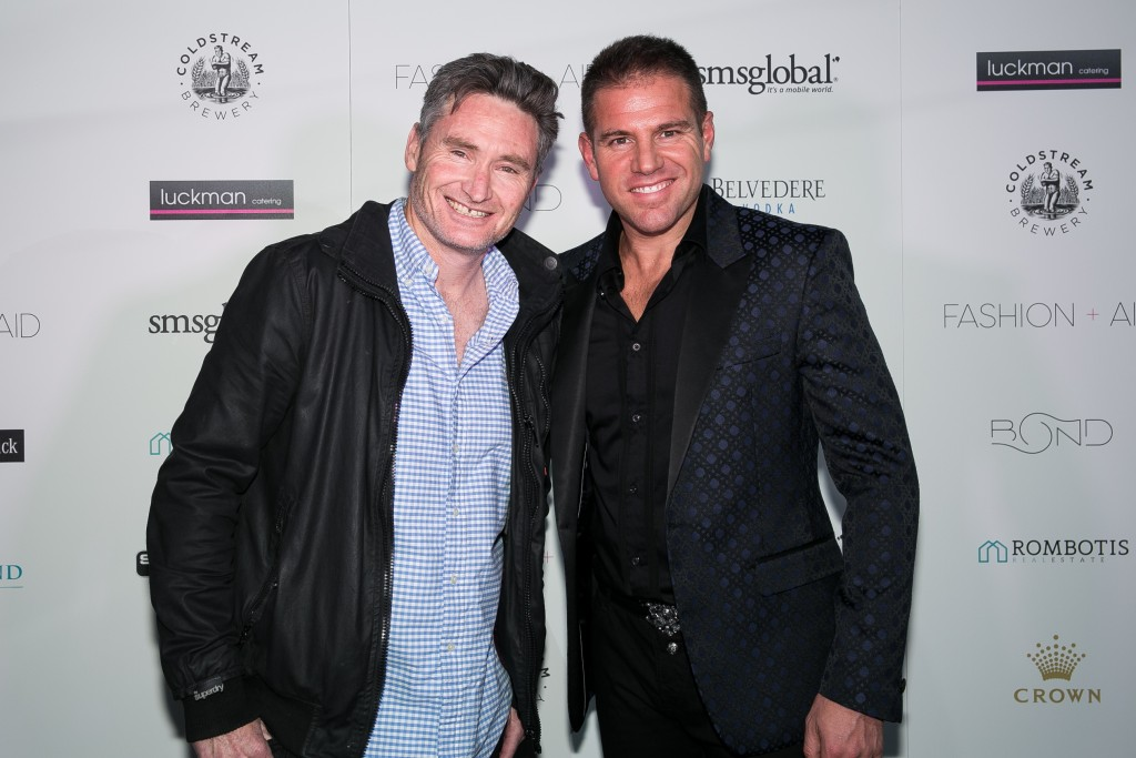Fashion Aid 2016 - Media Launch Dave Hughes and John Rombotis