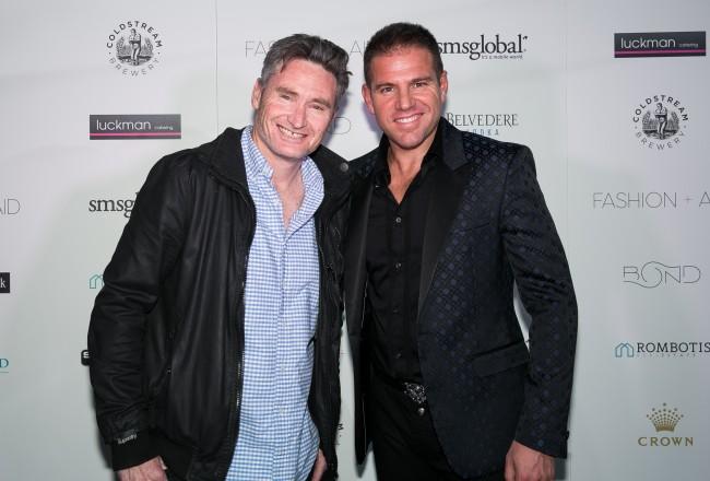 Fashion Aid 2016 - Media Launch   Dave Hughes and John Rombotis