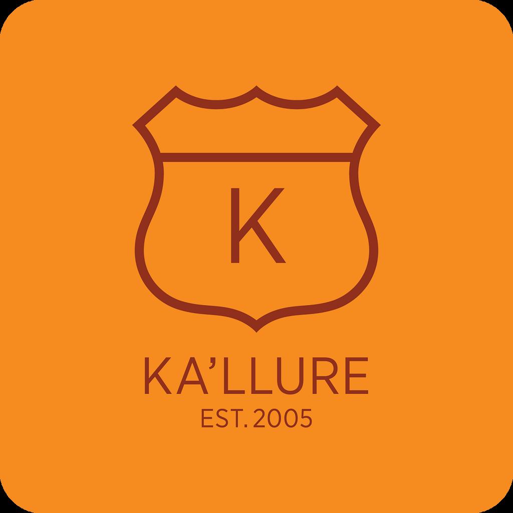 Kallure Branding - Red on Orange Square (cmyk)