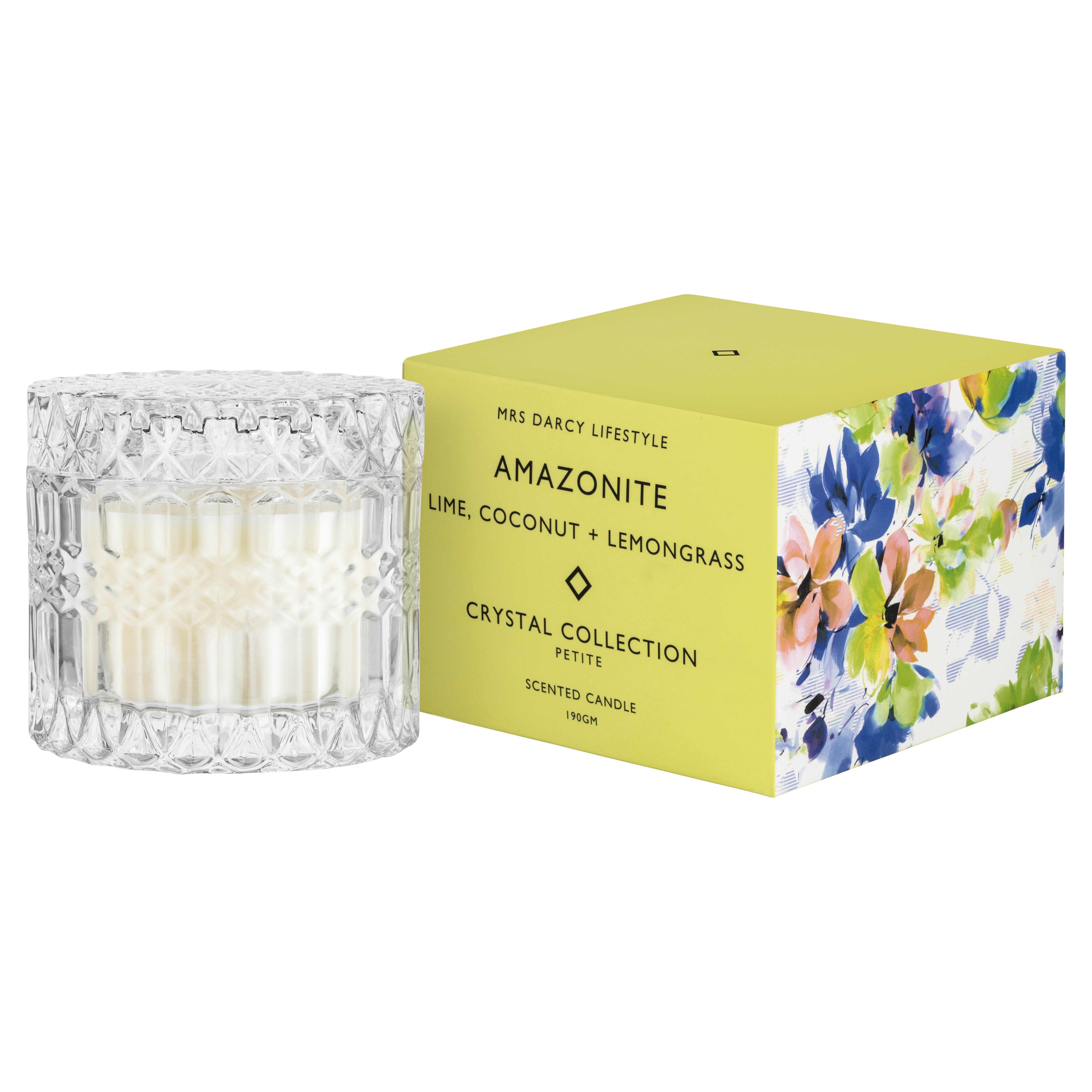 Mrs Darcy, Candle Amazonite Lime, Coconut and Lemongrass (Petite), RRP $29.95