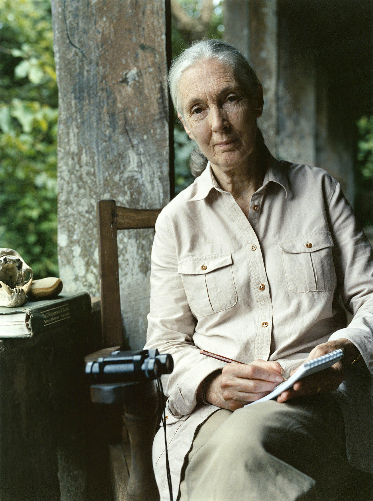 Dr. Jane Goodall in Gombe National Park, Tanzania GANT clothing campaign